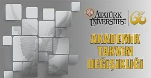 Atatürk Üniversitesinde akademik takvim değişikliği