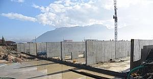 Atıksı arıtma tesisi inşaatı hızla ilerliyor
