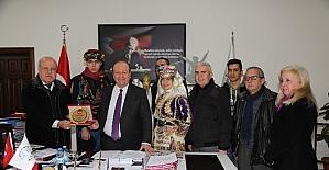 Aydın efelerinden Başkan Özakcan'a teşekkür ziyareti