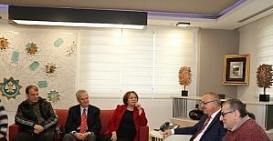 Başkan Ergün, İzmir Gazeteciler Cemiyeti'ni ağırladı