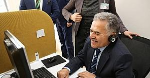 Başkan Memduh Büyükkılıç, İletişim Merkezinde 252 13 33'e cevap veriyor
