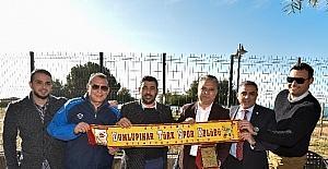 Başkan Uysal KKTC Takımı Dumlupınar'ı konuk etti