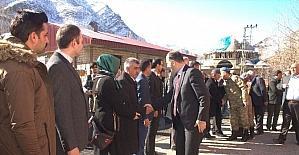 Beytüşşebap'a yeni atanan Kaymakam Şener köy okullarını gezdi