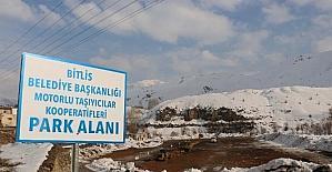 Bitlis Belediyesi yeni otopark alanları oluşturuyor