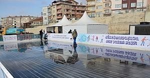 Buz pateni pisti Süleymanpaşa'da hizmete girmeye hazırlanıyor