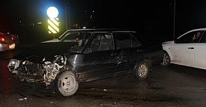Çan Sanayi Köprüsü Kavşağında kaza, 1 yaralı