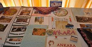 Çemberimde Gül Oya proje sergisi Ilgaz'da açıldı.
