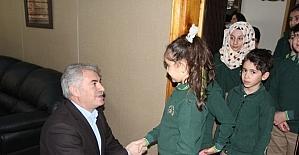 Dede Korkut Kolejinden Başkan Memiş'e Ziyaret