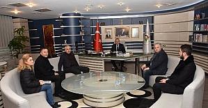 Düzce Seyyar Pazarcılar Odası'ndan Başkan Keleş'e ziyaret