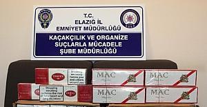 Elazığ'da iş yerinde kaçak sigara ele geçirildi