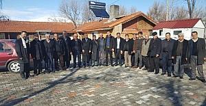 Emrullah Kara ve muhtarlardan, Ahmet Aydın'a destek