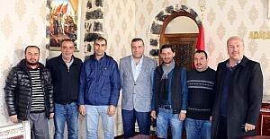 Gazetecilerden Siverek Kaymakamı Demirel'e ziyaret