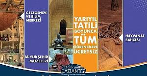 Gaziantep belediye müzeleri ve hayvanat bahçesi yarıyıl tatilinde tüm öğrencilere ücretsiz