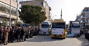 Gördes'in yardımları Halep'e uğurlandı