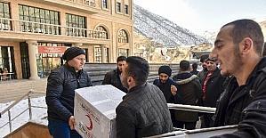 Gümüşhane'de öğrencilerden Halep'e yardım kampanyası