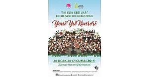 """""""İki Elin Sesi Var"""" Çocuk Senfoni Orkestrası'ndan 2017'nin ilk konseri"""