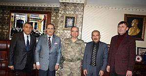 İl Jandarma Komutanı Albay Şen'den, SESOB'a ziyaret