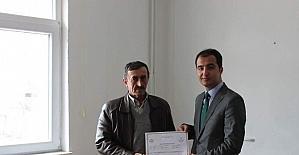 İnönü'de çobanlara sertifika verildi