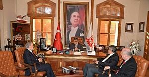 İş adamlarından Başkan Yağcı'ya ziyaret