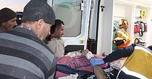 Kahta'da inşattan düşen işçi ağır yaralandı