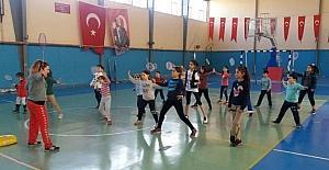 Milas'ta spor aşkı tatilde de devam ediyor