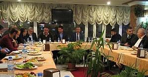 MÜSİAD'ın yeni yönetimi üyeleriyle yemekte bir araya geldi