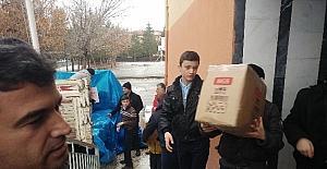 Öğrencilerden Halep'e yardım kampanyası