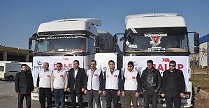 Şanlıurfa'dan Halep'e bin 152 yardım tırı gönderildi