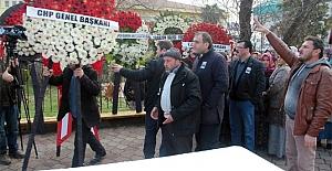 Şehit cenazesinde CHP çelengini krizi