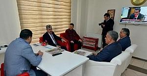 Yeşilyurt Belediye Başkanı gazeteciler günü sebebiyle ziyarete çıktı