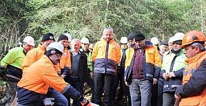Zonguldak'da uygulamalı ağaç kesme eğitimi verildi