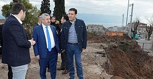 Başkan Baran üniversite inşaatını ziyaret etti