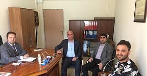Başkan Deniz'den Mimar Sinan Orta Okuluna ziyaret