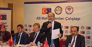 Başkan Gümrükçüoğlu AB Mali Yardımları Çalıştayı'nda konuştu