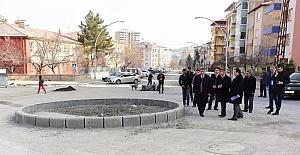 Başkan Gürkan, kaldırım çalışmalarını yerinde inceledi