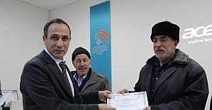 Besi yetiştiricilerine sertifika verildi