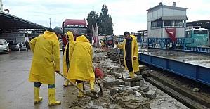 Büyükşehir Belediyesi, Hal Kompleksi'nde çalışmalarını sürdürüyor