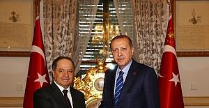 Cumhurbaşkanı Erdoğan, Mesut Barzani 'yi kabul etti