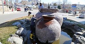 Edirne'de süs havuzlarına bahar temizliği