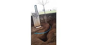 Köseali mahalle mezarlığı suya kavuştu