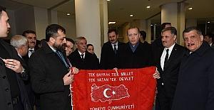 MATHAP'tan Cumhurbaşkanı Erdoğan'a duvar halısı