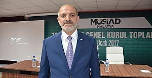 MÜSİAD Malatya Şubesinde başkan yeniden Hüseyin Kalan oldu
