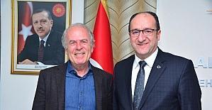Mustafa Denizli'den Başkan Ünlü'ye ziyaret
