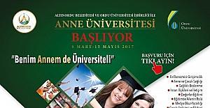 """Ordu'da """"Anne Üniversitesi"""" başlıyor"""
