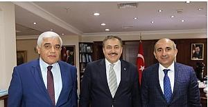 Orman ve Su işleri Bakanı Veysel Eroğlu'na ziyaret