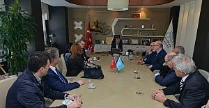 Priştine Üniversitesi'nden Başkan Bozbey'e ziyaret