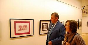 Sanko Sanat Galerisinde katı sanatı sergisi