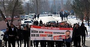 Sivas'ta Ülkücüler Fırat Yılmaz Çakıroğlu için yürüdü