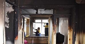 Süleymanpaşa Belediyesi'nden evi yanan vatandaşa destek