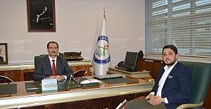 TÜGVA Başkanı Som'dan Rektör Nas'a ziyaret